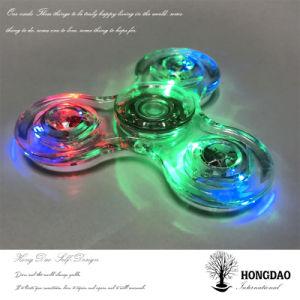 LED de baixo preço de fábrica Hongdao Dedo Spinner, estoque suficiente lado Shinning Spinner Brinquedos_D