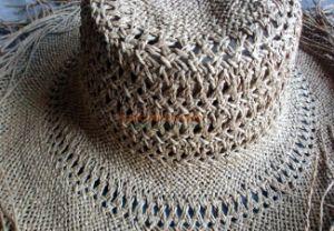 La rafia tejida Sombrero de Paja cuerpo W/Cuello directa de ventilación de proveedor de la fábrica de China
