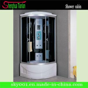 La esquina de televisión corrediza de vidrio Ducha cuarto de baño de vapor (Tl-8856)