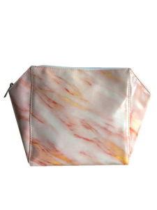 Mode d'impression de marbre PU Cuir Sac cosmétique