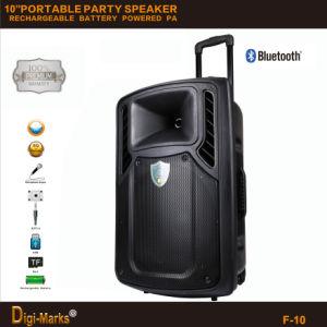 Диктор портативная пишущая машинка Bluetooth Karaoke коробки громкоговорителя парка перезаряжаемые батареи ПРОФЕССИОНАЛЬНЫЙ