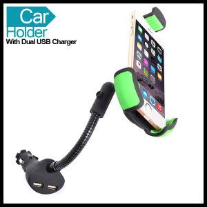 Doble Universal USB Cargador de coche soporte para teléfono móvil GPS
