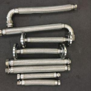 Dn8-600 이음쇠 플랜지를 가진 mm에 의하여 주름을 잡는 유연한 금속 호스