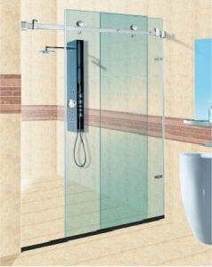 La qualité de montage de porte de douche en verre coulissante (FS-002)