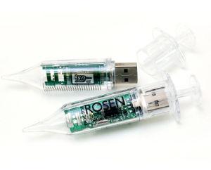 선전용 실린더 모양 플라스틱 USB 섬광 드라이브 디스크 기억 장치 지팡이