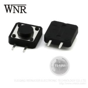 SMD 12x12mm interruptor táctil 4pin TS-1251 Pulse el botón interruptor de tacto