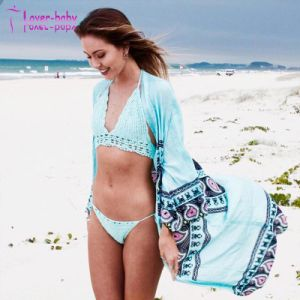 Style Fashion Mew Mesdames Aqua Mandala Kimono Long Beach