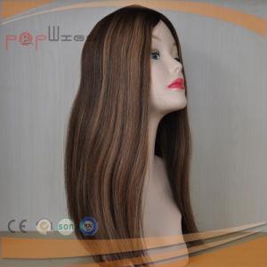 バージンの人間の毛髪の絹の上のレースの前部かつら(PPG-l-01787)
