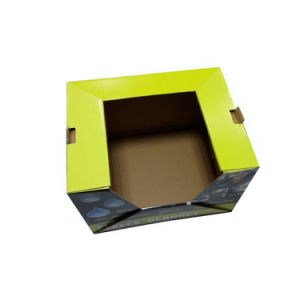 Cor impressa na Caixa de papel ondulado