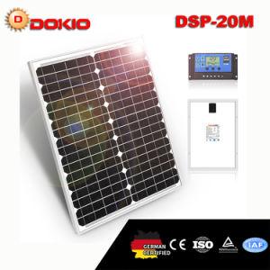 Солнечная панель Dokio 20W + 10A 12V/24V солнечной контроллер с интерфейсом USB 12V портативная солнечная панель для мобильного телефона