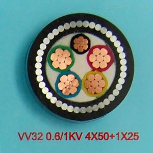 0.6/1kv il conduttore XLPE del Cu di memoria di bassa tensione 3+2 ha isolato il cavo elettrico inguainato PVC/PE corazzato del nastro d'acciaio Yjv22-0.6/1kv-3X4+2X2.5