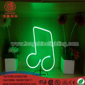 LED-Beleuchtung-hängendes Weihnachtsdekoration-Acrylneonmusik-Zeichen-Nachtlicht