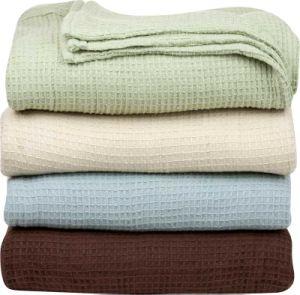 Tejido de algodón a cuadros de lujo Manta Waffle textiles para el hogar
