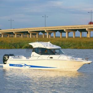 Lanstin 36MC Bateau de pêche de la cabine en fibre de verre avec la certification CE