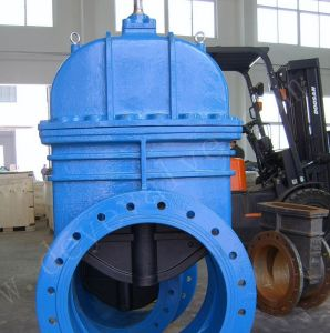 Fundición de hierro dúctil Reslient Válvula de compuerta de asiento de caucho en stock
