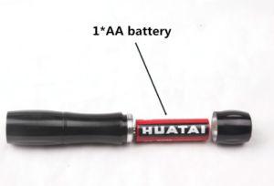 Bunte Fackel der Aluminiumlegierung-LED Torch&Lighting mit trockener Batterie AA