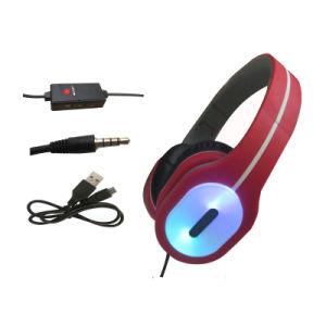 Мощные басы высокое качество LED разъем для наушников с микрофоном
