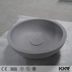 卸し売り光沢がある黒い石造りの樹脂の軸受けの洗面器