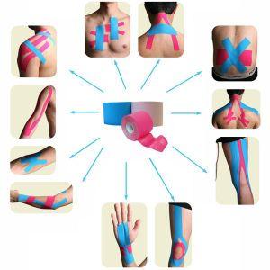 5cm*5mtherapy de Band van Kinesio van de spier