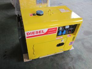 공기에 의하여 냉각되는 단일 위상 싸게 침묵하는 Portable 5kVA 5000 와트 5000W 디젤 엔진 발전기 5kw