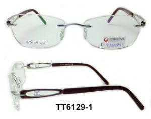 Het eenvoudige Klassieke Optische Frame van het Titanium Frameless (TT 6129)