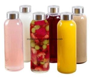 Voss-Art-Getränkesaft-Glaswasser-Flasche mit Schrauben-Plastikschutzkappe