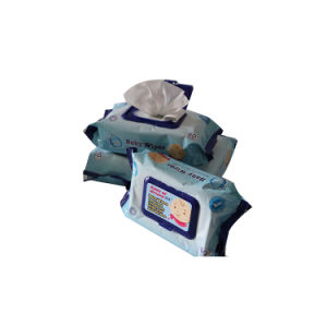 Natte Weefsels van de Baby van de Alcohol Spunlace van de fabriek 45GSM de niet Geweven Vrije