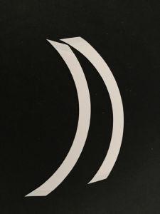 Band 7.5cm*2cm van het Lichaam van de Domoor van het Toupetje van de Mees van de Bescheidenheid van de Band van de manier Tweezijdige