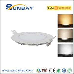 Usine OEM Ce CRI80 IEC Saso Ra80 réglable 3W 6W 9W 12W 15W 18W 20W 24W panneau LED carrés Round Slim montés en surface