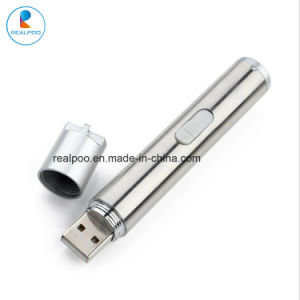 医学LEDの懐中電燈ペットを満たす小型USBはレーザーのペンをもてあそぶ
