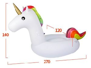 Hot Sale Gonflables de piscine gonflable Jouets gonflables à l'île d'Unicorn