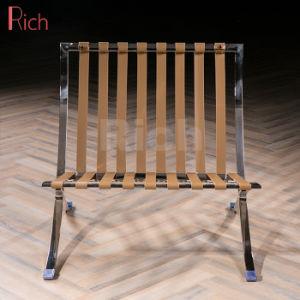 사무실 금속 여가 가죽 로비 Recliner 디자이너 바르셀로나 소파 의자