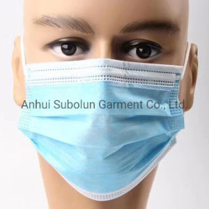 Non-Woven 3 couches Masque chirurgical médicaux jetables en stock
