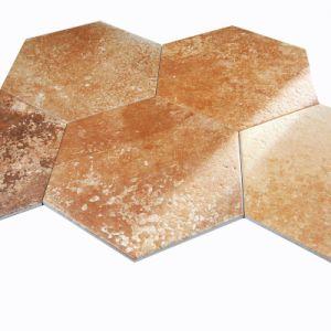 Terre cuite en carreaux de céramique à six pans vitrés 300x260mm (TC 01)