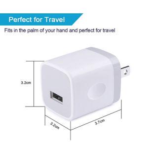 Teléfono móvil inteligente cargador de viaje 5V 1un cargador de pared USB