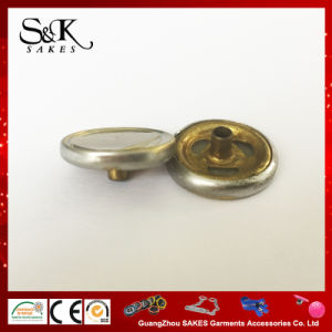 Coração de metal do logotipo do botão de encaixe de latão para vestuário