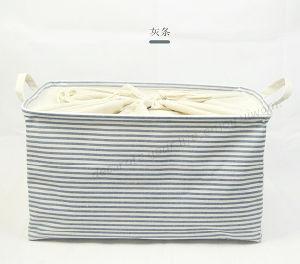 El algodón dulce y ropa de cama plegable Caja de almacenamiento Baina rayas haz caja caja de almacenamiento de ropa multiusos Inicio Cesta de almacenamiento