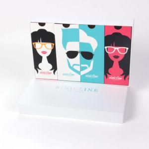 Contenitore di carta della visualizzazione di Sinicline di occhiali da sole originali di marca con la marca