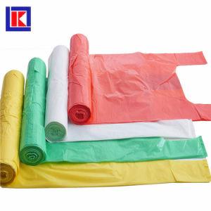 HDPEの平底LDPEのロールのプラスチック屑のごみ袋