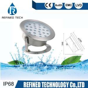 De alta potencia 24W 12V 24V LED RGB IP68 Foco submarino farol de la luz de la fuente