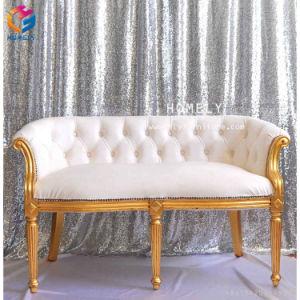 ホーム党ホテル愛シートのためのThrone Sofa快適で贅沢な結婚式の宴会の世帯のビロードまたは革PUの顧客用王