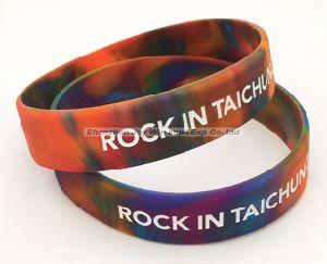 Wristband promozionale del silicone di Debossed di turbinio
