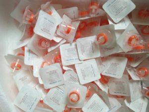 Filtro de jeringa estéril de Médicos de Laboratorio para la filtración de líquidos de esteroides