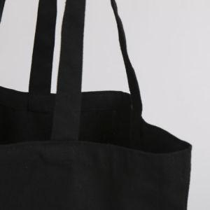 جلّيّة سوداء قطر نوع خيش [توت بغ] بالجملة مع علامة تجاريّة طباعة
