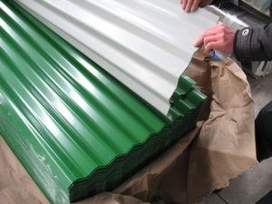 Feuille de métal d'onde de l'eau /couleur feuille de toiture en carton ondulé