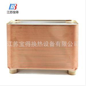 온수기를 위한 놋쇠로 만들어진 격판덮개 열교환기 304/316L