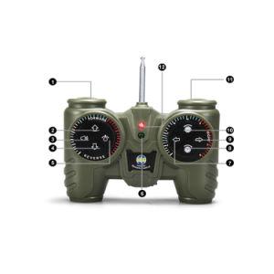 Giocattolo militare di telecomando di 1:12 del serbatoio del micro RC con il telaio basso del serbatoio