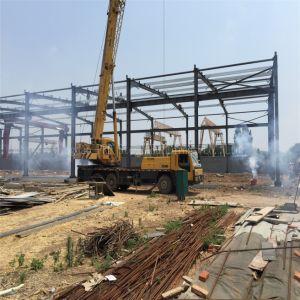 Prd abarcan todo el bastidor de la estructura de acero de construcción con nave