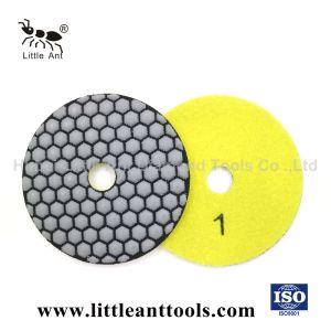 3 pouces de tampon de polissage à sec de diamant pour Counter-Top et le béton