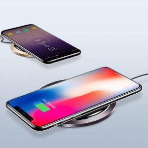 Almohadilla de carga inductiva Qi 5 W 10W 7.5W cargador inalámbrico compatible para el iPhone X, el iPhone 8 Además, el iPhone 8, Samsung Galaxy S9+/S9 y otros dispositivos de Qi